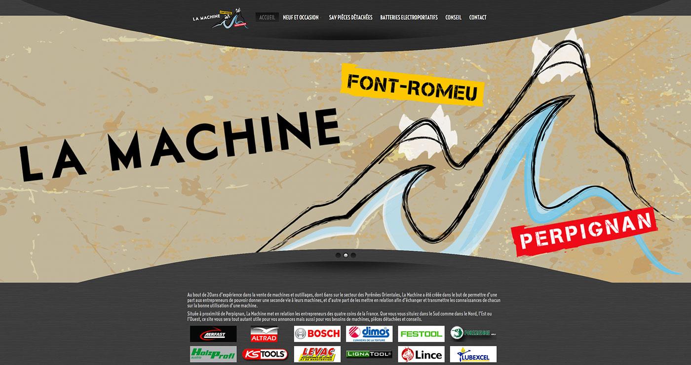 Webdesign et développement du site responsive xavierdutronlamachine.fr