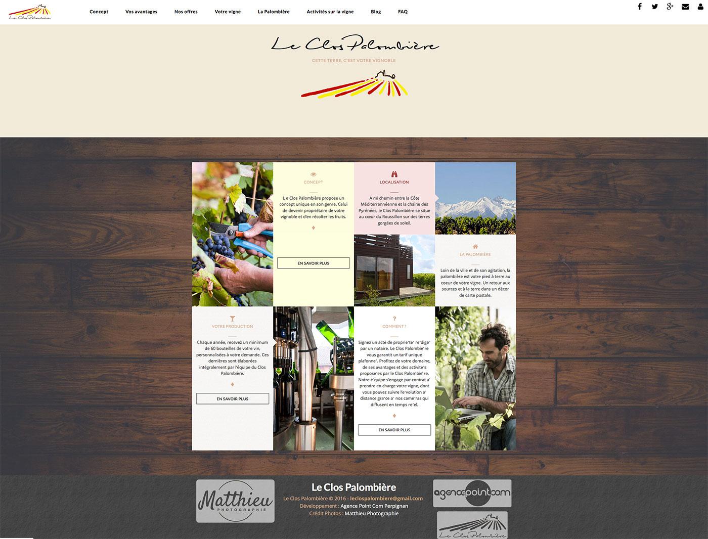 Création site internet sur Perpignan : Le Clos Palombière