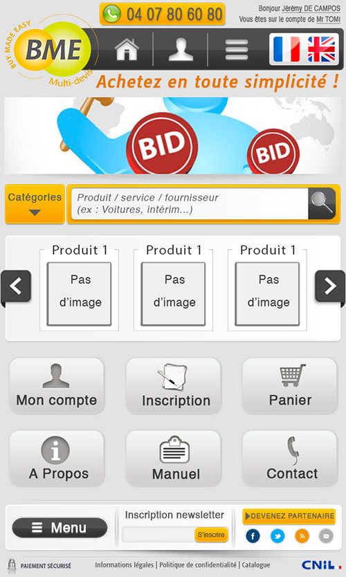 Webdesign du site version mobile et tablette multi-devis.com