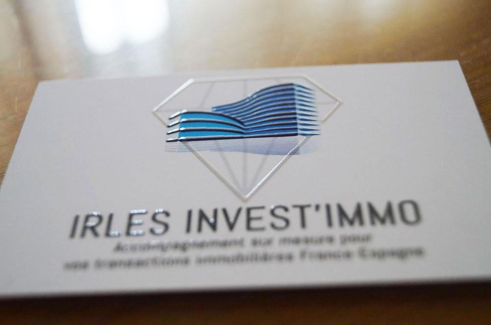 Creation Logo Et Cartes De Visites Pour Irles Invest Immo