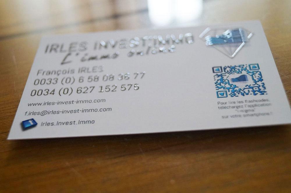 Cration Logo Et Cartes De Visites Pour Irles Invest Immo