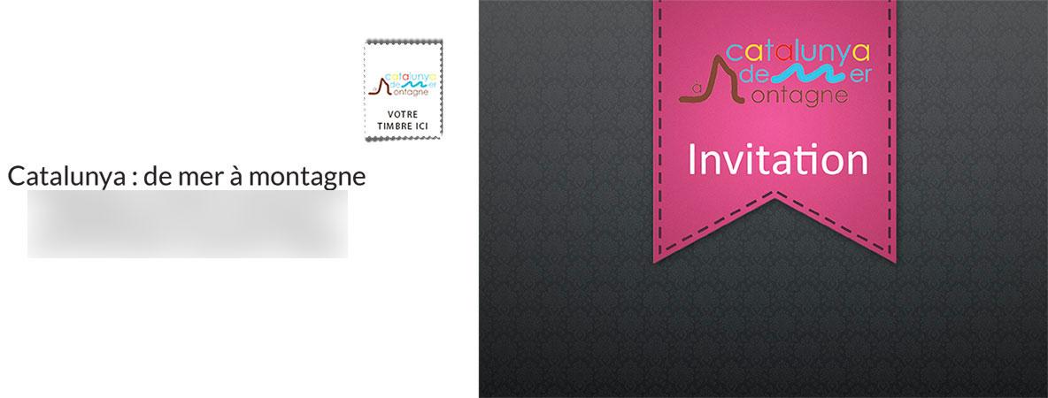 Création flyer carte invitation et affiches pour Catalunya : de Mer à Montagne