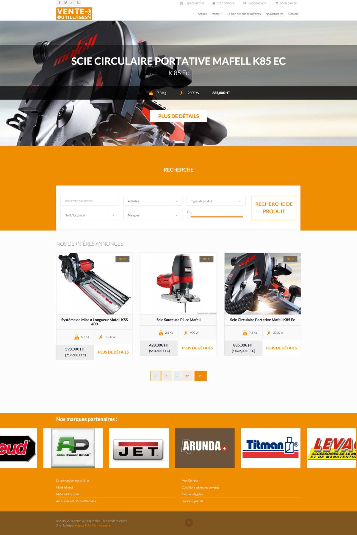 Création site e-commerce sur Perpignan