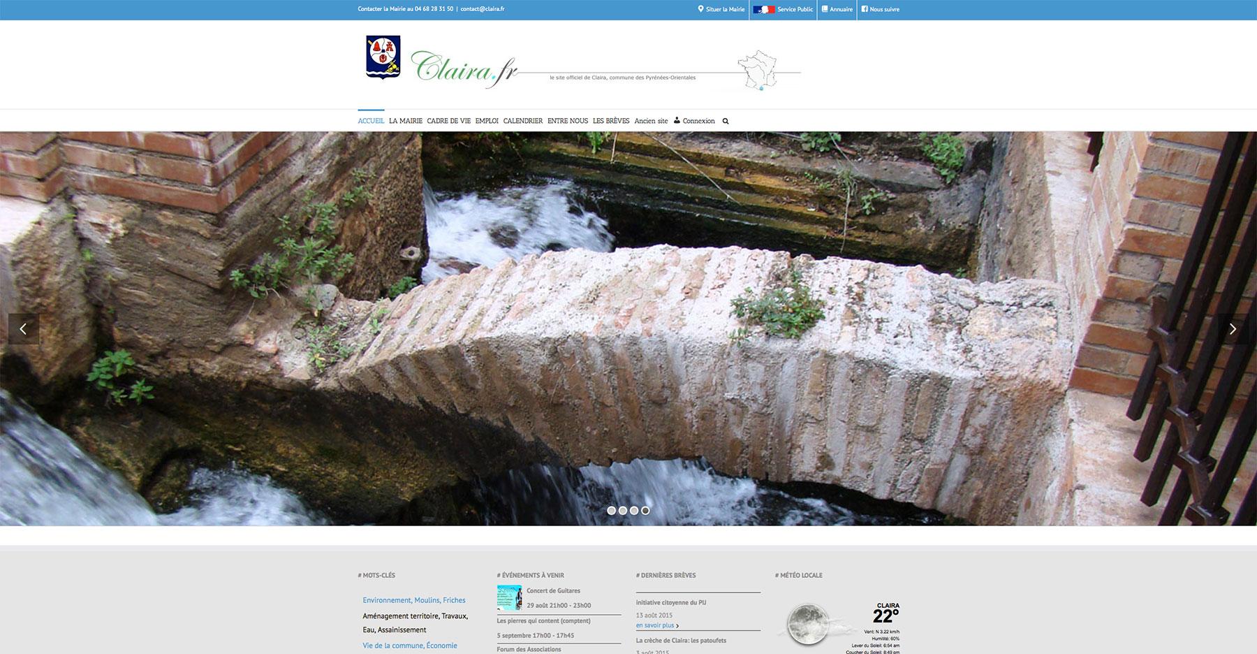 Création site internet mairie de Claira