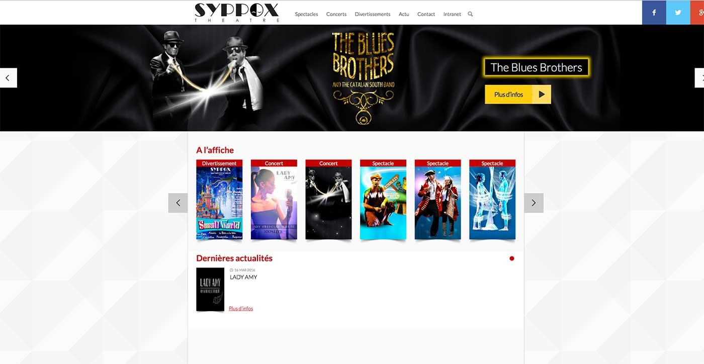 Agence Point Com - Création site web sur Perpignan : Syppox Théâtre