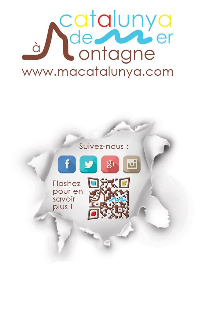 création carte de visite + flashcode design + flyer pour Ma Catalunya : de Mer à Montagne