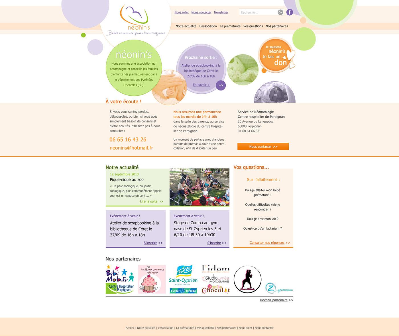 Développement du site de l'association Néonin's