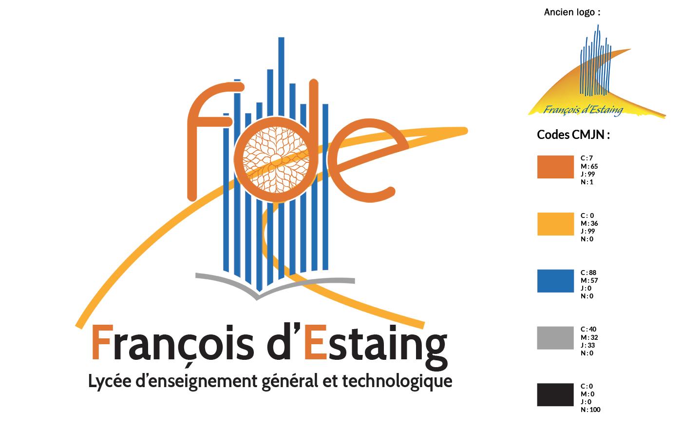 Refonte logo Lycée François d'Estaing à Rodez